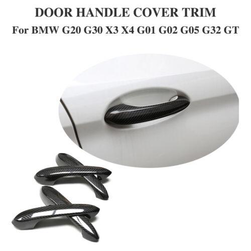 For BMW X3 G01 G08 X4 G02 X5 G05 G20 G30 G32 Side Door Handle Cover Trims Carbon