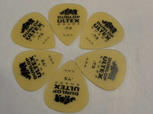 Dunlop Guitar Picks  Ultex Sharp  72 Pack   .73mm Medium 433R