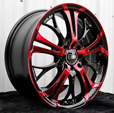 1 - 16x7.0 HD Wheels Spinout Rims Pink/Red 4x100 4x114.3 Colors Civic Accord NEW