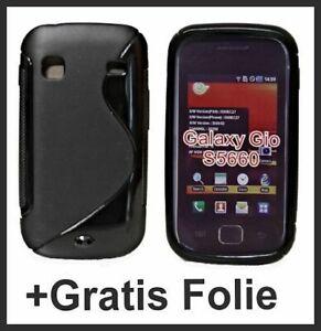 TPU-Silikon-Huelle-Case-Cover-fuer-Samsung-Galaxy-Gio-S5660-Schwarz