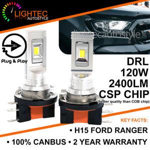 FORD-RANGER-2016-H15-120W-CSP-SEOUL-LED-HEADLIGHT-CANBUS-BULBS-DRL-HIGH-BEAM-UK
