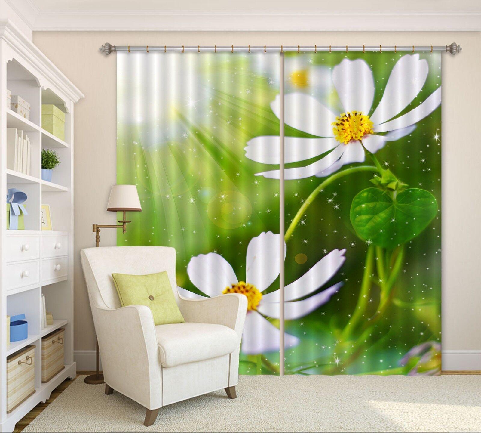 3D Petal Sun Blockout Photo Curtain Printing Curtains Drapes Fabric Window AU