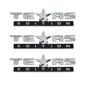 ( Set of 3 ) TEXAS EDITION EMBLEM CHEVY SILVERADO SIERRA TRUCK UNIVERSAL DECAL | eBay