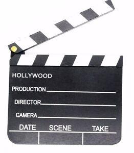 Regieklappe-Kameraklappe-Filmklappe-Hollywood-Holz-20-x-18-cm-Movie-Film-Tafel