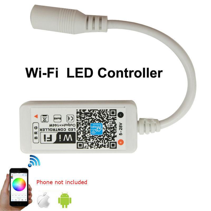 Magic Home Home Home WiFi Smart Phone Remote 5 M 40 m 5050 RGBWW étanche IP67 DEL | Un Approvisionnement Suffisant  2bb41b