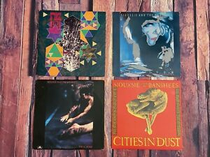Siouxsie-amp-The-Banshees-LP-Vinyl-LOT-of-4-Records-Nocturne-The-Scream-Peepshow