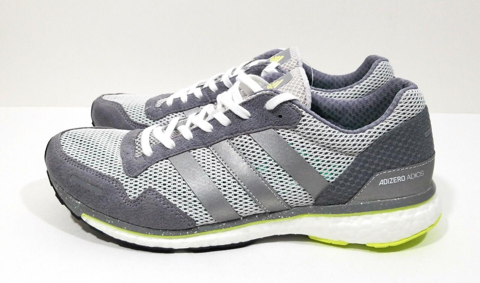 Adidas Adizero Adios Adios Adios 3 Womens Running shoes Grey Silver Size 9.5 f1bfa3