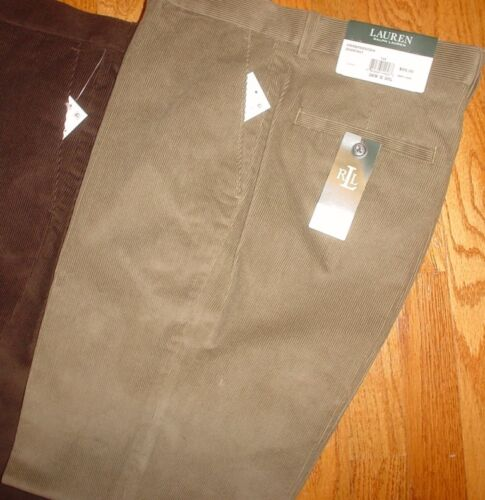 Ralph Lauren Mens Corduroy Classic Fit Flat Front 100/% Cotton Pants New $95
