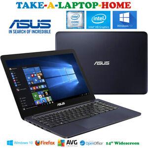 ASUS-Sleek-Black-Laptop-E-Series-QuadCore-2-4GHz-Huge-1Tb-HDD-Windows10-14-034
