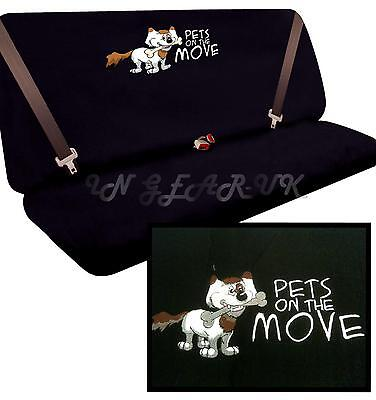 PETS ON THE MOVE Universal Dog Pet Transport Rear Car Seat Protector Cover NEW