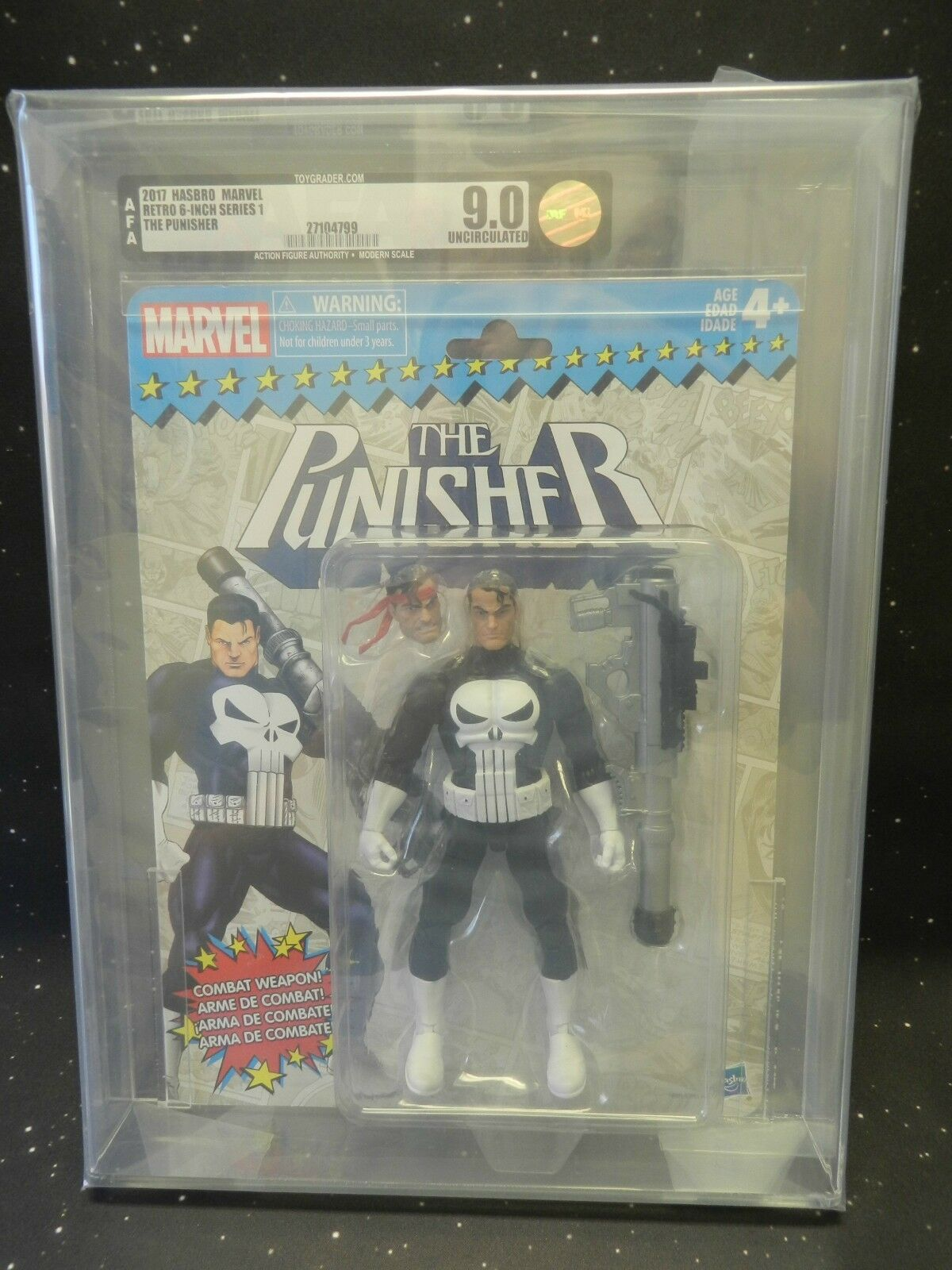 2017 Hasbro Marvel Retro 6 Inch Series 1 The Punisher AFA U9.0