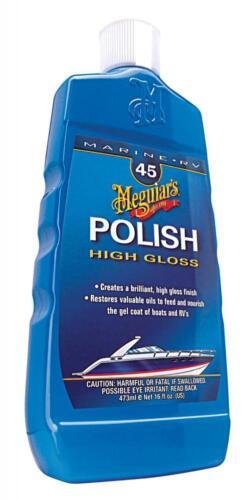 Meguiars High Gloss Polish No.45 Marine Boat RV Caravan Motorhome Fiberglass GRP