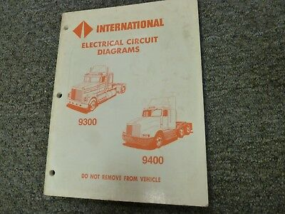 1996-1998 International 9300 9400 Truck Electrical Wiring ...