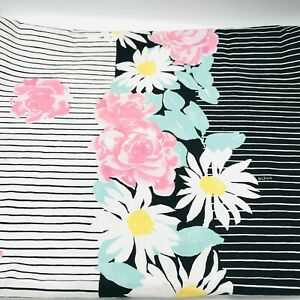 Vintage-Vera-Neumann-Black-amp-White-Floral-Table-Cloth-Bold-Tablecloth-Cotton