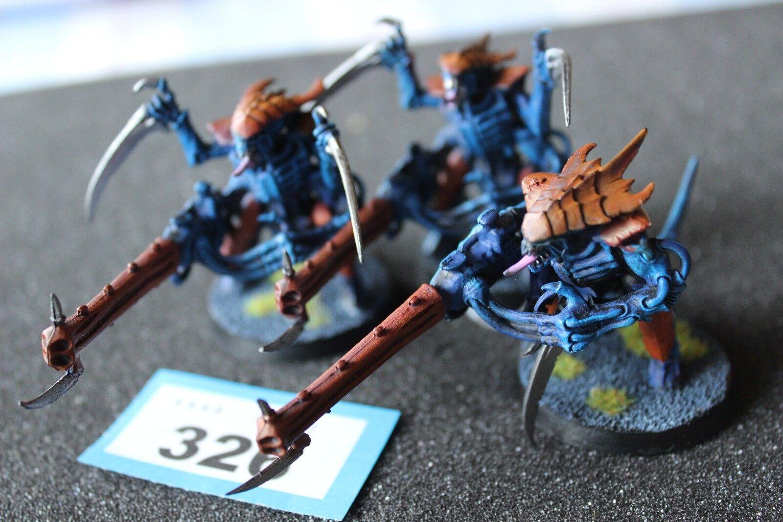 Games Workshop Warhammer 40k Tyranid Warriors x3 Venom Cannons Well Painted GW