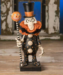 Bethany-Lowe-Designs-Halloween-Skeleton-Chicken-Lips-039-Clowning-Around-Skelly