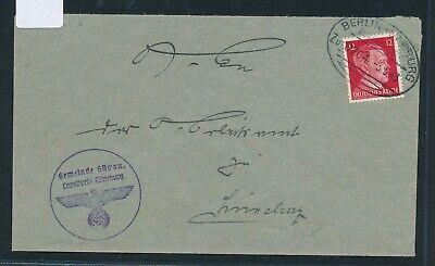 35043) Bahnpost Ovalstempel Berlin - Hamburg Zug 0204, Brief Lüneburg 1943 Mild And Mellow