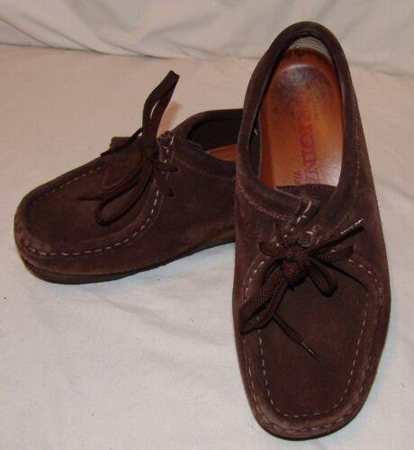 8m Clarks Cuero Botas Zapatos Original Wallabee Chocolate Mujer Marrón ttx7fOzwq