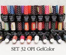 HOT SALE ✽ OPI GelColor SET OF 32 Color Base Top Coat Soak Off Gel Nail Lot Kit