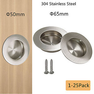 304 Stainless Steel Flush Recessed Handle Circular Round Pulls ...