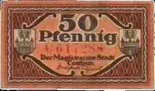 1920 Germany COTTBUS  50 Phennig Notgeld / Banknote
