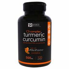 Sports Research Turmeric Curcumin C3 Complex 500mg Sofgels - 120 Count