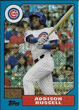 2017 Topps '87 Topps Silver Pack Chrome Blue #ARU Addison Russell #48/99