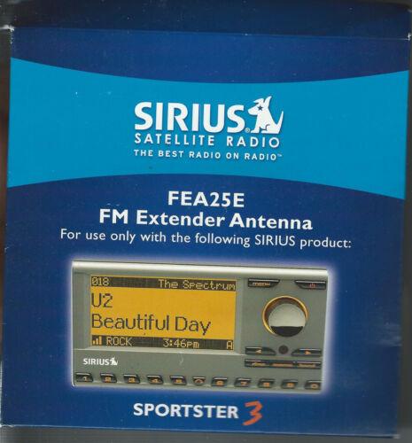 NEW!!! Sirius Satellite Radio FEA25E FM Extender Antenna