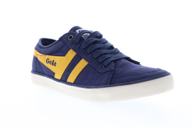 Gola Comet CMA516 Mens Blue Canvas Retro Lace Up Low Top Sneakers Shoes