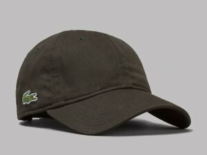 Lacoste Mens Gabardine Cap Baseball Hat Dark Green BNWT OSFM TNF ... ee1acbc3ebf