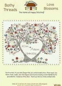 Image Is Loading Bothy Threads Love Blossoms Wedding Sampler Counted Cross