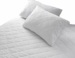 Extra-Profonde-Impermeable-Terry-Serviette-Drap-protecteur-Bed-Topper-unique-doubleking