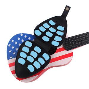 Guitar-Pick-Holder-Case-for-22-Picks-Collection-Stand-with-Belt-Black-Bag