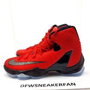 Nike LeBron XIII 13 Elite University Red   Black   Crimson Sz 10 NEW ... a5dd5a893