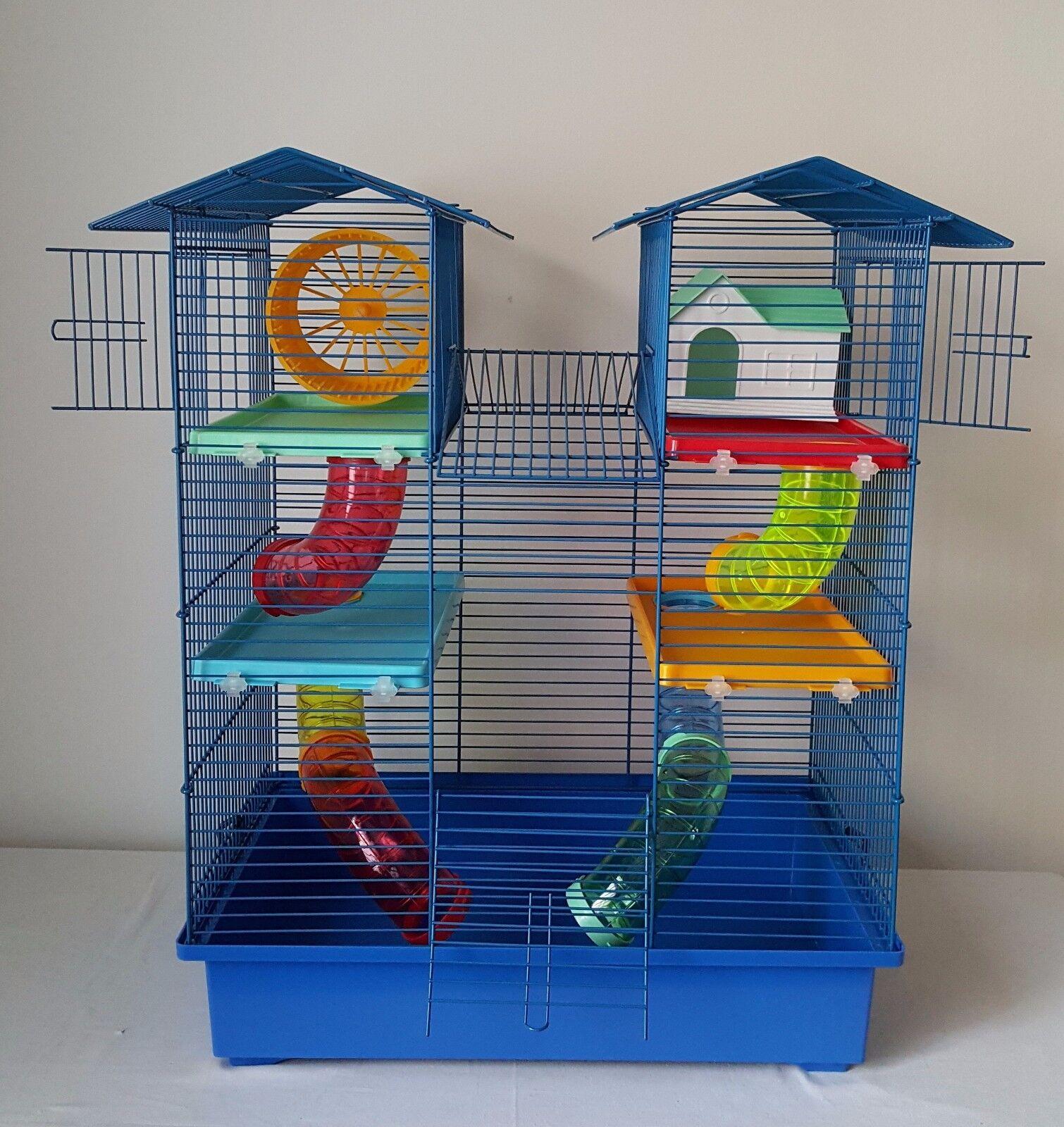 GRANDE Casa Gabbia Criceto Bottiglia D'acqua TUBO RUOTA PICCOLI ANIMALI mouse Pet