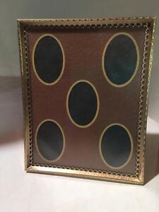 Vintage Antique Photo Collage Picture Frame Velvet Easel