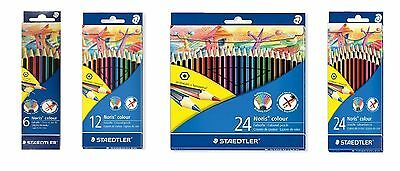 12 or 24 Available Staedtler Noris Colour Hexagonal Pencils Set Packs of 6