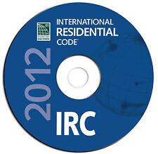 2012 International Residential Code IBC-Public Safety Regulations-CD eBook PDF