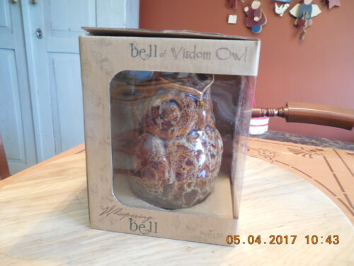 Whispering Bell Brown Wisdom Owl by The Seagull Company  Inc....In original box