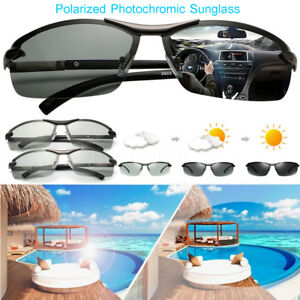 309c0e2b192 Image is loading UV400-Polarized-Photochromic-Sunglasses-Men-039-s-Driving-