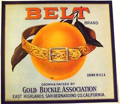 East Highlands San Bernardino Carro Amano Orange Citrus Fruit Crate Label Print