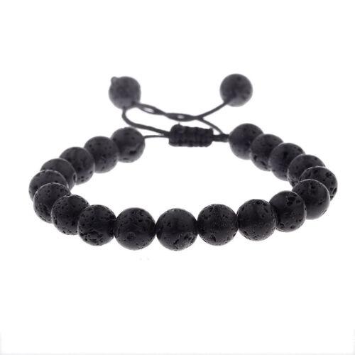 CZ Crown Bracelets Gift Natrual Lava Stone Beads Macrame Bracelets Men Jewellery