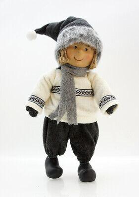 """schöne große Kunstharz Puppe /""""Winterkind/"""" Mädchen auf Schaukel Deko Fa Amsel"""