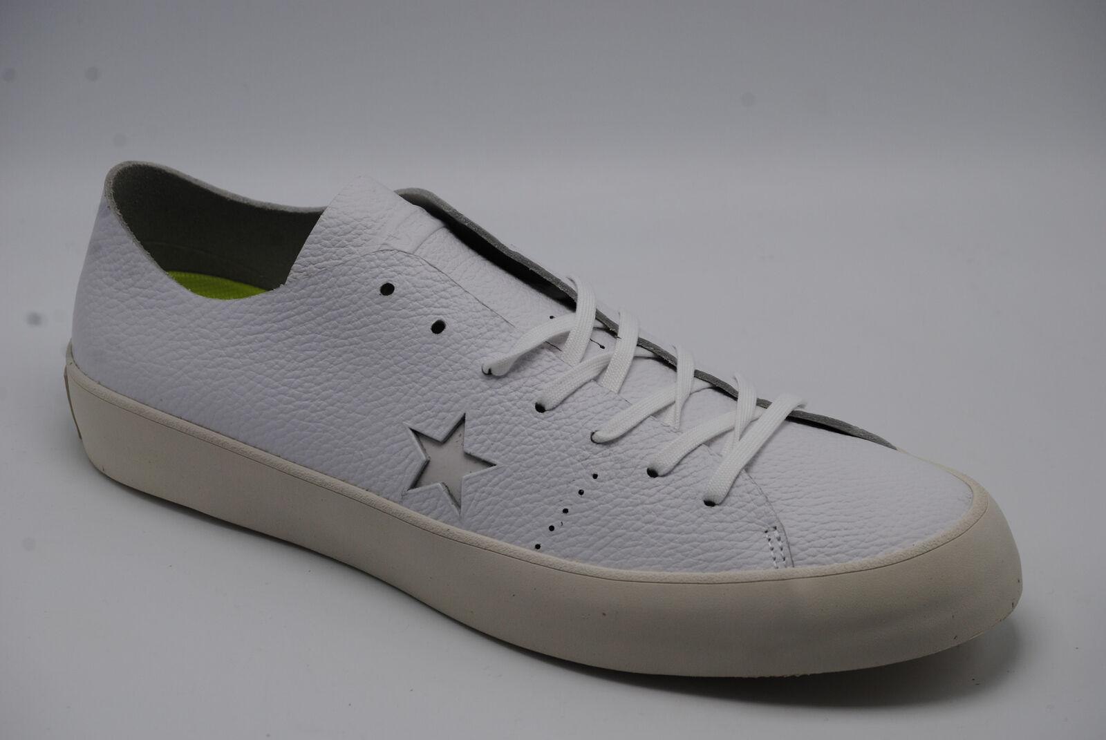 a4bcbb045ea4 Converse Cons One Star Prime Ox White Leather Low Shoes Sz 12 Mens ...