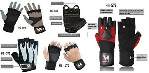 BODY-BUILDING-GYM-FITNESS-LEATHER-CROSS-FIT-POWER-WORKOUT-WEIGHT-LIFTING-GLOVES