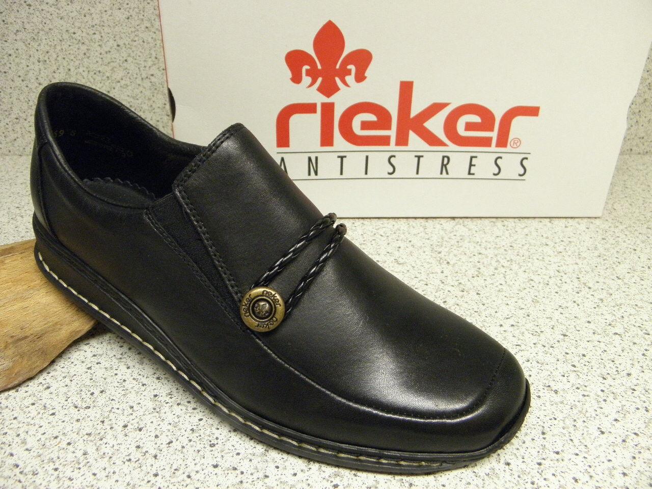 rieker ® ROTuziert, schwarz, Top Preis + gratis Premium - Socken, 44360-00 (R1)