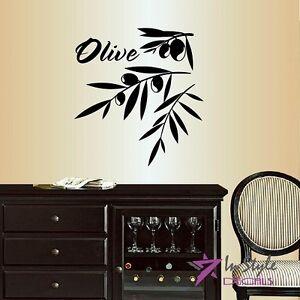 Image Is Loading Vinyl Decal Olive Branch Olives Kitchen Dining Room