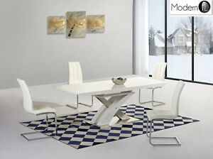 Charmant Image Is Loading MODERN WHITE HIGH GLOSS EXTENDING DINING TABLE AND