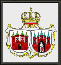 Wappen von Brandenburg an der Havel Aufnäher, Pin, Aufbügler