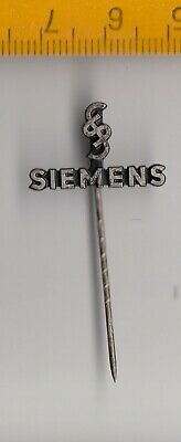 Vintage metal SIEMENS Logo stick pin badge 1960s Electric Company